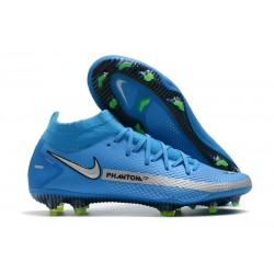 Fotbollsskor för Herrar Nike Phantom GT Elite DF FG Blå Silver