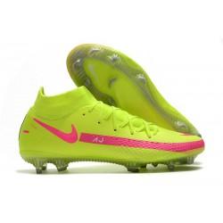 Fotbollsskor för Herrar Nike Phantom GT Elite DF FG Grön Rosa