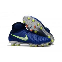Nike Magista Obra 2 Elite DF FG Herr Fotbollsskon - Blå Grön