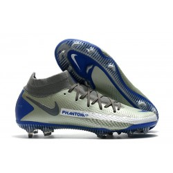 Nike Phantom Generative Texture Elite DF FG Silver Blå