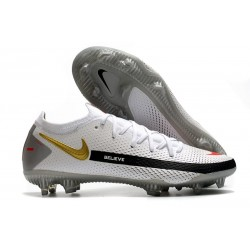 Fotbollsskor för Herrar Nike Phantom GT Elite FG Vit Svart Röd