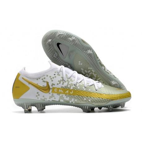 Nike Phantom Gt Elite Fg Fotbollsskor Vit Guld