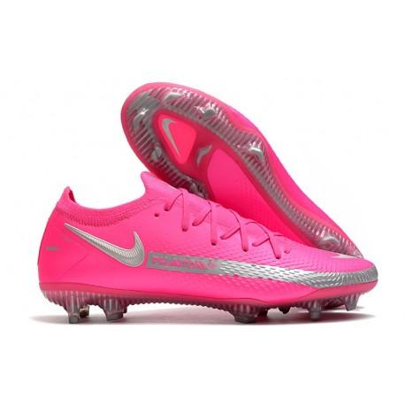 Nike Phantom Gt Elite Fg Fotbollsskor Rosa Silver