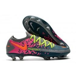 Nike Phantom Gt Elite Fg Fotbollsskor Grå Blå Rosa