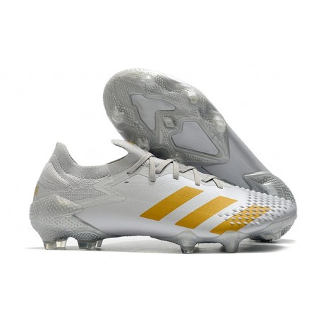 Fotbollsskor Adidas Predator Mutator 20.1 L FG Vit Guld