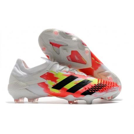 Fotbollsskor Adidas Predator Mutator 20.1 L FG Uniforia -Vit Svart Röd