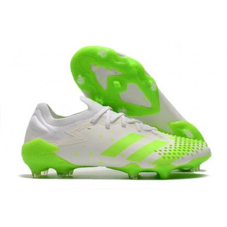 Fotbollsskor Adidas Predator Mutator 20.1 L FG Vit Grön