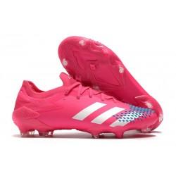 Fotbollsskor Adidas Predator Mutator 20.1 L FG Rosa Vit