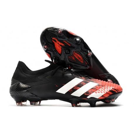 Fotbollsskor Adidas Predator Mutator 20.1 L FG Svart Vit Röd