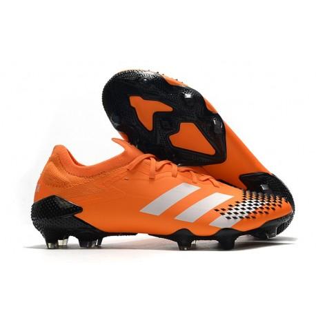 Fotbollsskor Adidas Predator Mutator 20.1 L FG Orange Vit Svart