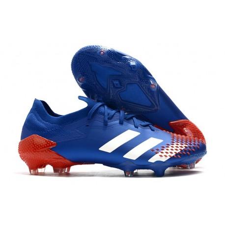 Fotbollsskor Adidas Predator Mutator 20.1 L FG Blå Vit Röd