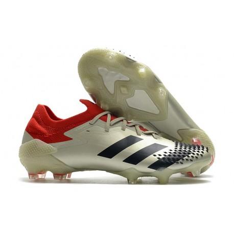 Fotbollsskor Adidas Predator Mutator 20.1 L FG Vit Röd Svart