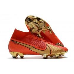Nike Mercurial Superfly 7 Elite DF FG CR100 Röd Guld