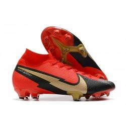Nike Mercurial Superfly 7 Elite DF FG Röd Svart Guld