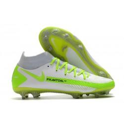 Nike Phantom Generative Texture Elite DF FG Vit Gul