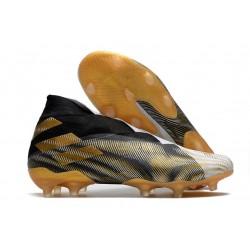 adidas Fotbollsskor Nemeziz 19+ FG Svart Guld Vit