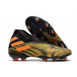 adidas Fotbollsskor Nemeziz 19+ FG Grön Orange Svart