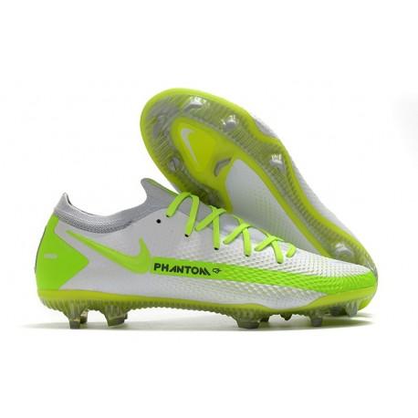 Nike Phantom Gt Elite Fg Fotbollsskor Vit Grön