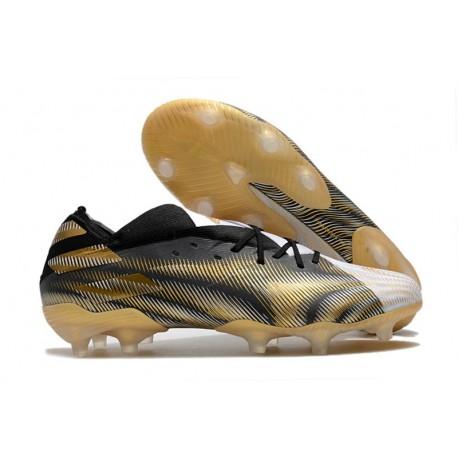 Fotbollsskor adidas Nemeziz 19.1 FG Atmospheric - Vit Guld Svart
