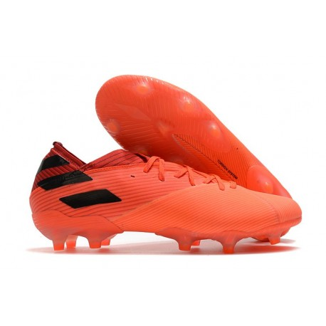 Fotbollsskor Herrar adidas Nemeziz 19.1 FG Inflight - Orange Svart Röd