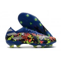 Fotbollsskor för Herrar adidas Nemeziz 19.1 FG The Journey - Blå Silver Gul