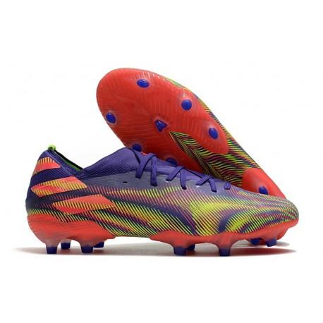 Fotbollsskor adidas Nemeziz 19.1 FG Precision To Blur -Lila Rosa Grön