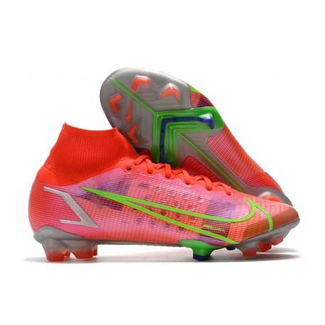 Fotbollsskor Nike Mercurial Superfly 8 Elite FG Spectrum - Röd Silver