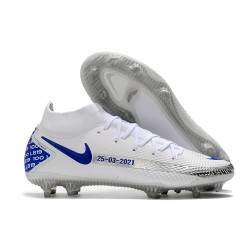 Nike Phantom Generative Texture Elite DF FG Vit Blå