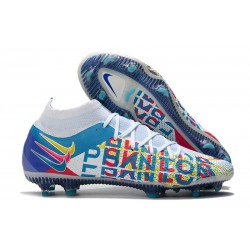 Nike Phantom Generative Texture Elite DF FG 3D - Blå Rosa Gul