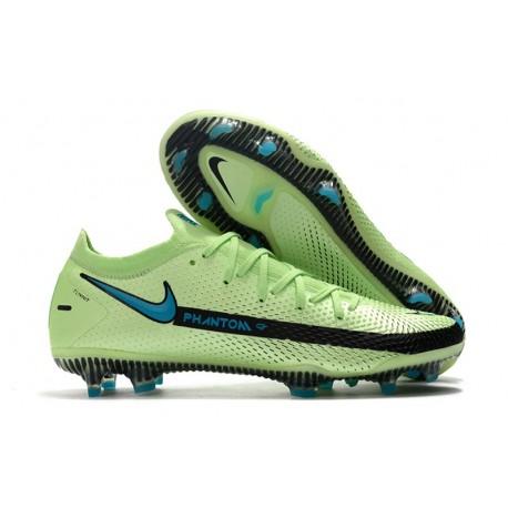 Nike Phantom Gt Elite Fg Fotbollsskor Impulse - Grön Blå