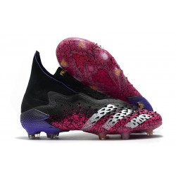 Fotbollsskor adidas Predator Freak + FG Superspectral - Svart Vit Rosa