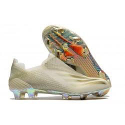 adidas X Ghosted+ FG Fotbollsskor Inflight - Vit Guld Svart