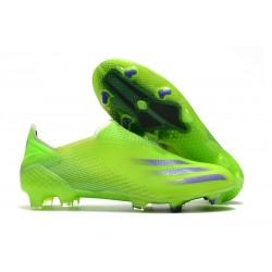 adidas X Ghosted+ FG Fotbollsskor Precision To Blur - Grön Lila Gul