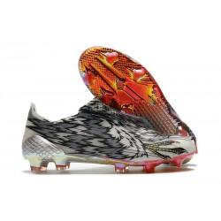 adidas X Ghosted+ FG Fotbollsskor Svart Vit Silver