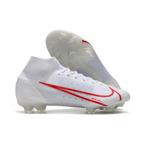 Fotbollsskor Nike Mercurial Superfly 8 Elite FG Vit Röd