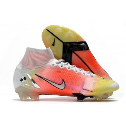 Fotbollsskor Nike Mercurial Superfly 8 Elite FG Vit Rosa Silver