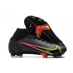 Fotbollsskor Nike Mercurial Superfly 8 Elite FG Black x Prism - Svart Gul Röd