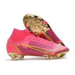 Fotbollsskor Nike Mercurial Superfly 8 Elite FG Rosa Guld Svart