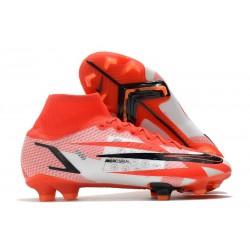 Nike Superfly VIII Elite DF FG CR7 Spark Positivity - Röd Svart Vit Orange
