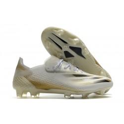adidas X Ghosted.1 FG fotbollsskor Inflight - Vit Guld Svart