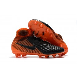 Nike Fotbollsskor 2018 Magista Obra II Elite DF FG - Svart Orange