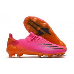 adidas X Ghosted.1 FG fotbollsskor Superspectral - Rosa Svart Orange