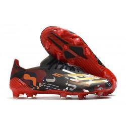 adidas X Ghosted.1 FG fotbollsskor Svart Röd Guld
