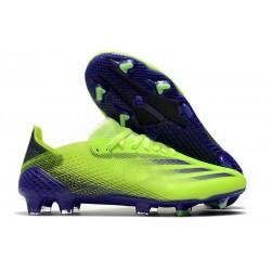 adidas X Ghosted.1 FG fotbollsskor Precision To Blur - Grön Lila Gul