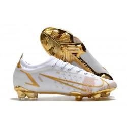 Nike Mercurial Vapor 14 Elite FG Fotbollsskor Vit Guld