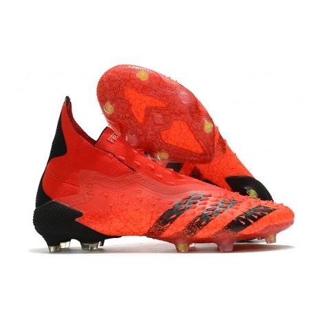 Fotbollsskor adidas Predator Freak + FG Meteorite - Röd Svart